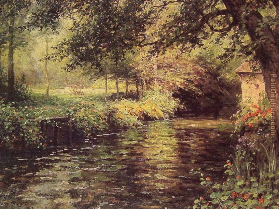A Sunny Morning at Beaumont-Le Roger painting - Louis Aston Knight A Sunny Morning at Beaumont-Le Roger art painting
