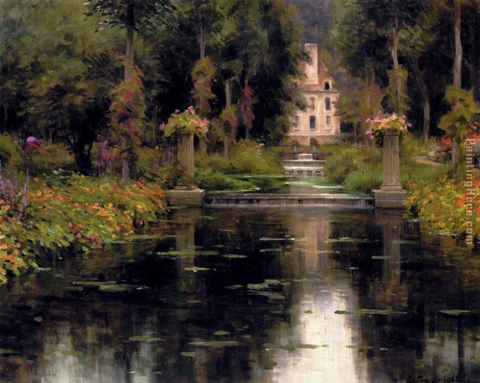 View Of A Chateaux painting - Louis Aston Knight View Of A Chateaux art painting