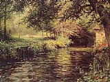 A Sunny Morning at Beaumont-Le Roger by Louis Aston Knight