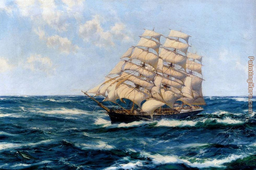 Broad Horizons painting - Montague Dawson Broad Horizons art painting
