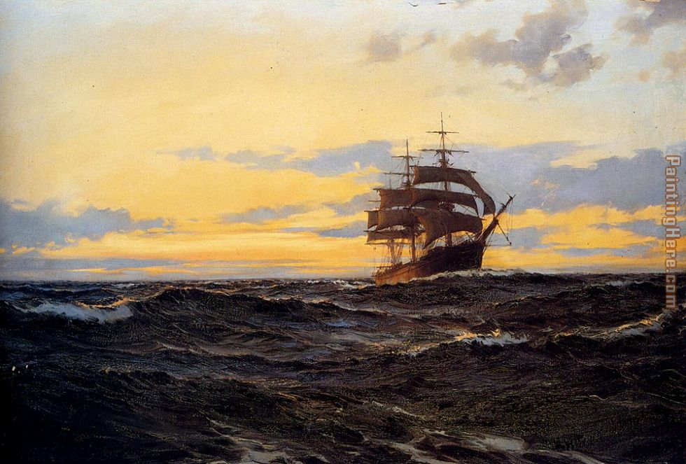 Evening Shadows painting - Montague Dawson Evening Shadows art painting