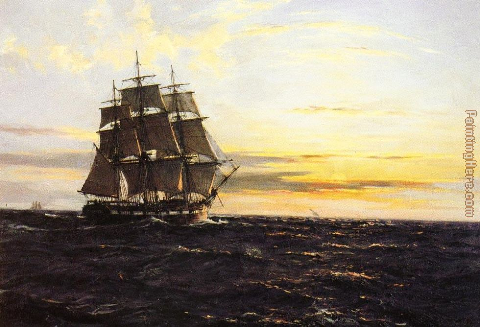 Into The Westerly Sun painting - Montague Dawson Into The Westerly Sun art painting