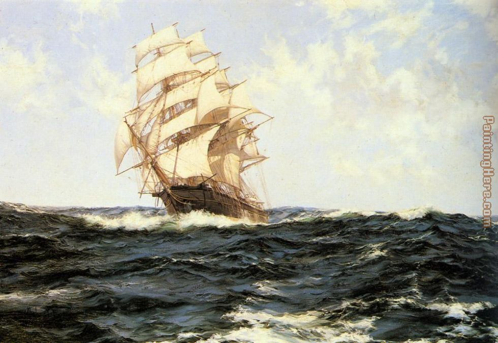 Pacific Rollers painting - Montague Dawson Pacific Rollers art painting