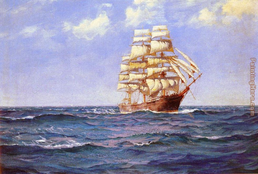 Rollicking Days painting - Montague Dawson Rollicking Days art painting