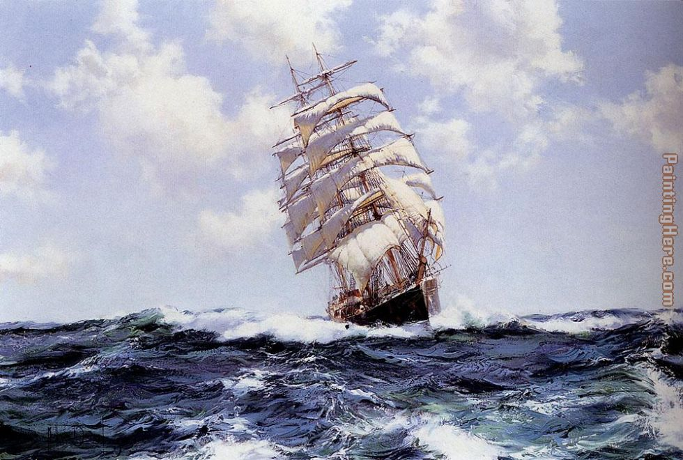 Rolling Seas - Eastern Monarch painting - Montague Dawson Rolling Seas - Eastern Monarch art painting