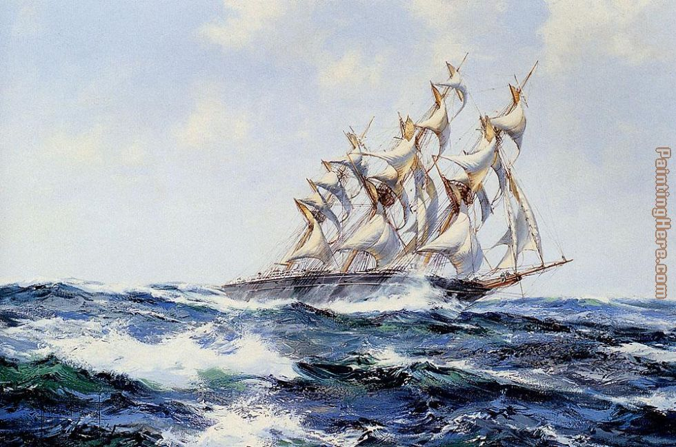 Montague Dawson The Baltimore Flyer Art Painting