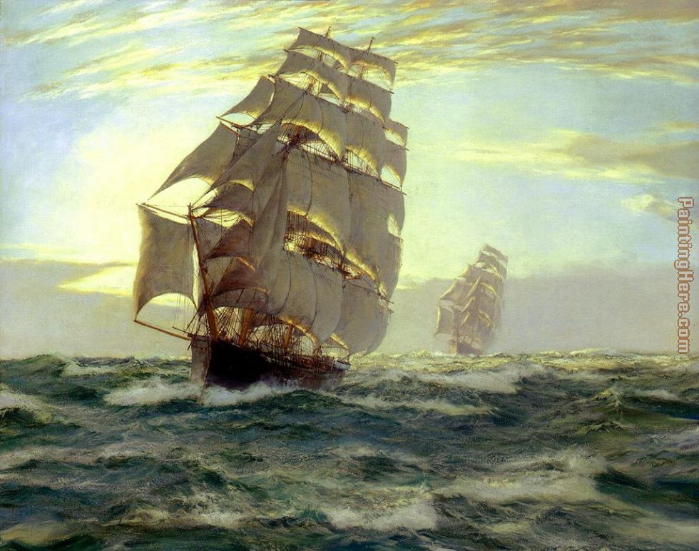 The Flying Cloud painting - Montague Dawson The Flying Cloud art painting