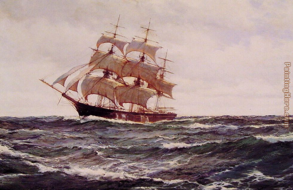 Montague Dawson The Glorious Sea Art Painting