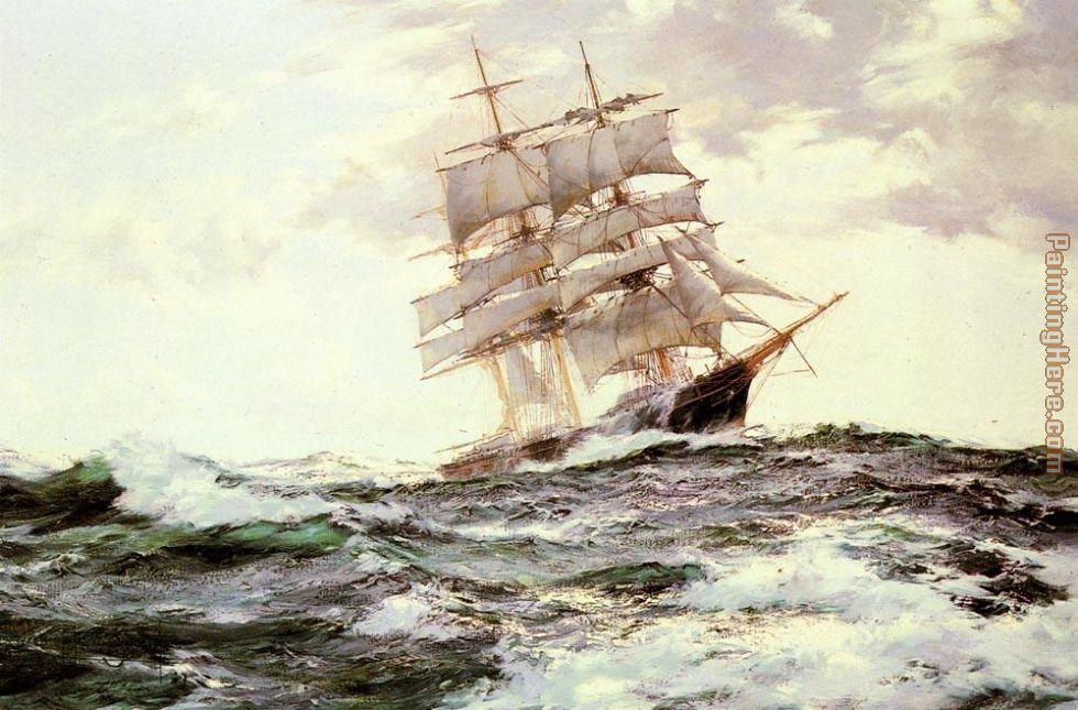 The New Englander -- The Forest Queen of Boston painting - Montague Dawson The New Englander -- The Forest Queen of Boston art painting