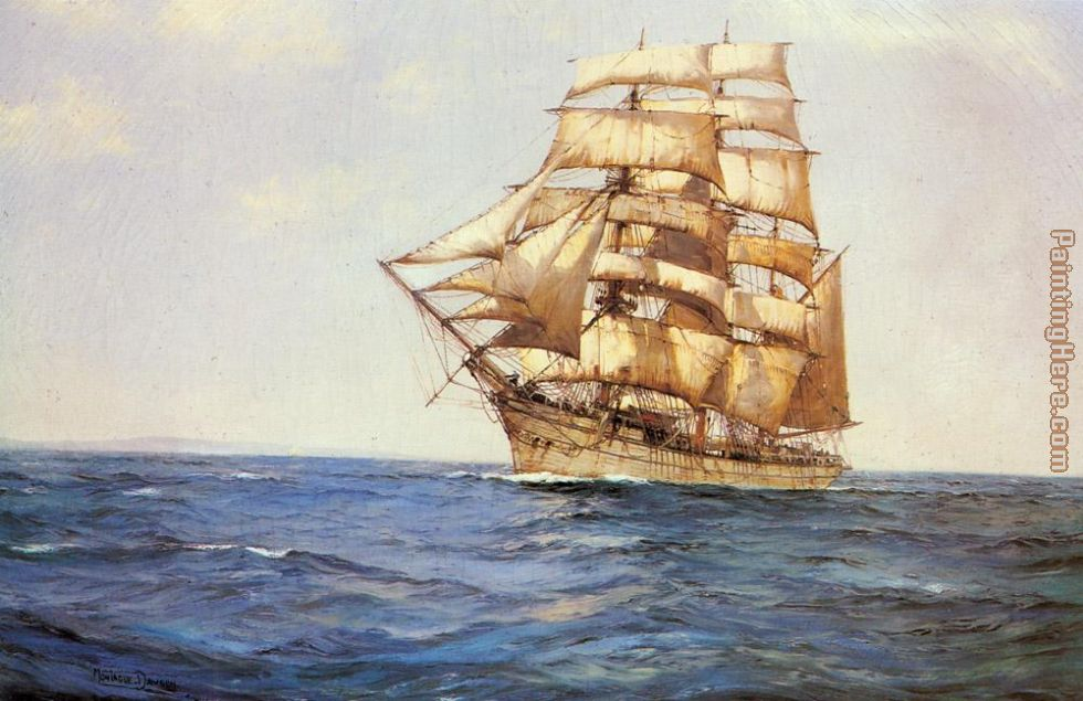 Montague Dawson The Old White Barque Art Painting