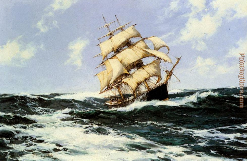 The Pacific Combers on the Open Seas painting - Montague Dawson The Pacific Combers on the Open Seas art painting