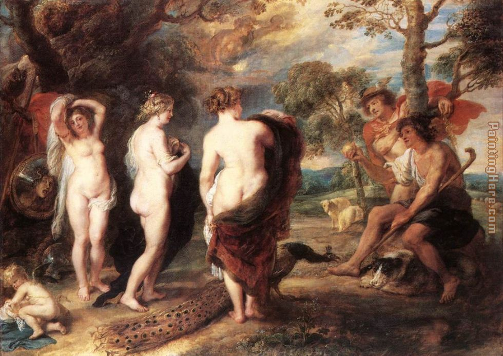The Judgment of Paris painting - Peter Paul Rubens The Judgment of Paris art painting