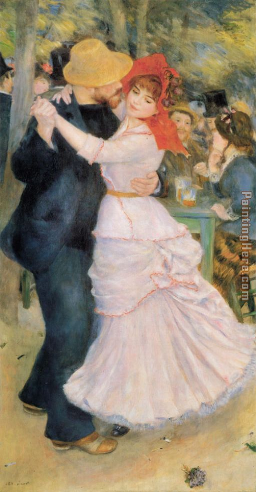 Dance at Bougival painting - Pierre Auguste Renoir Dance at Bougival art painting