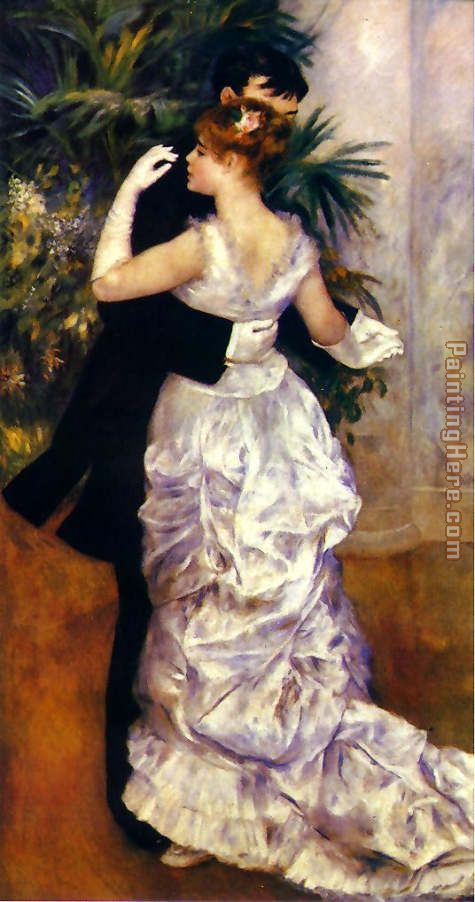 Dance in the City painting - Pierre Auguste Renoir Dance in the City art painting