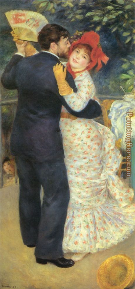 Pierre Auguste Renoir Dance in the Country Art Painting