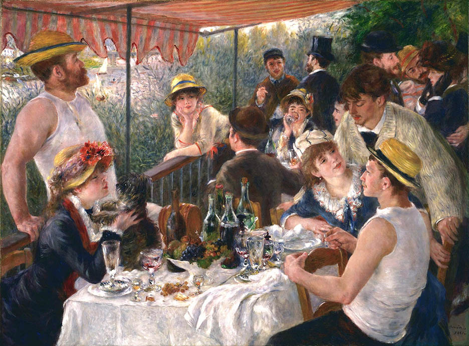 Pierre Auguste Renoir The Boating Party Lunch Art Painting