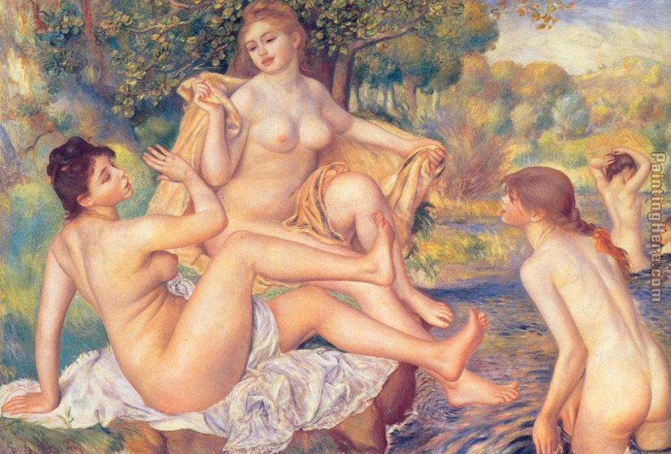 The Large Bathers painting - Pierre Auguste Renoir The Large Bathers art painting