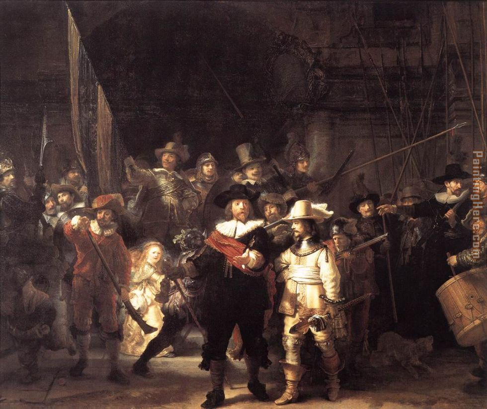 Rembrandt Rembrandt night watch Art Painting