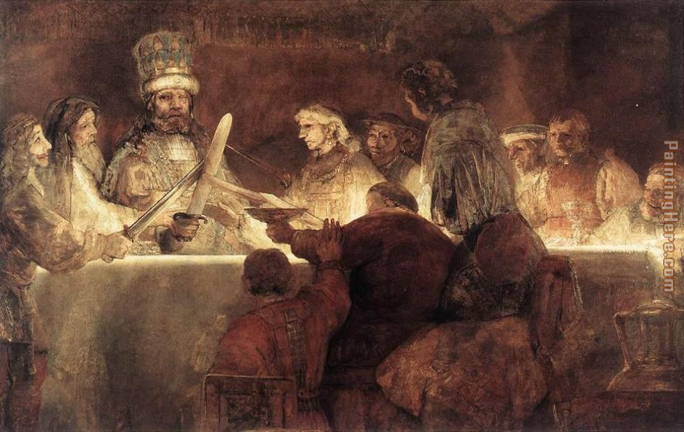 The Conspiration of the Bataves painting - Rembrandt The Conspiration of the Bataves art painting