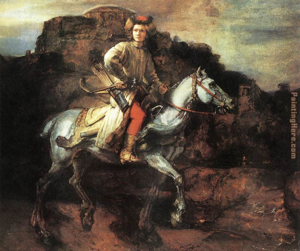 The Polish Rider painting - Rembrandt The Polish Rider art painting