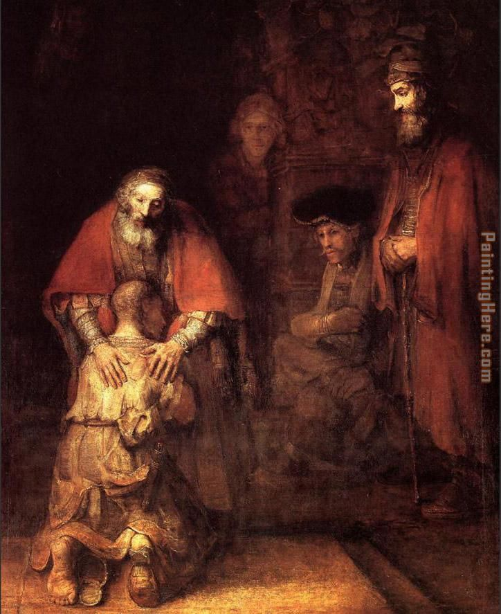 The Return of the Prodigal Son painting - Rembrandt The Return of the Prodigal Son art painting