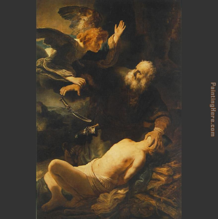 The Sacrifice of Abraham painting - Rembrandt The Sacrifice of Abraham art painting