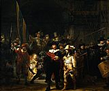 rembrandt nightwatch painting by Rembrandt
