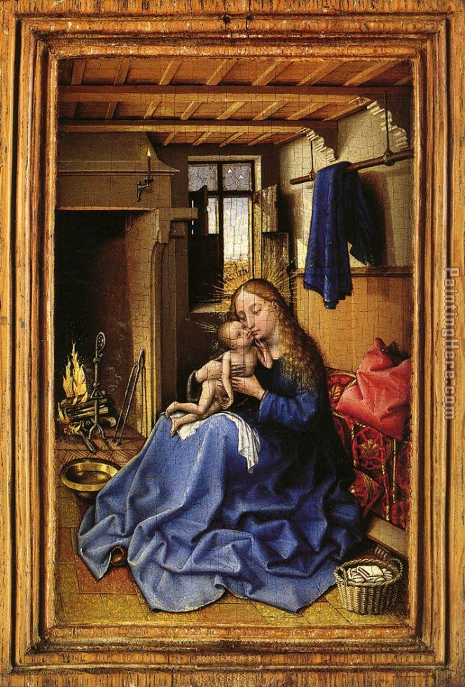 Virgin and Child in an Interior painting - Robert Campin Virgin and Child in an Interior art painting
