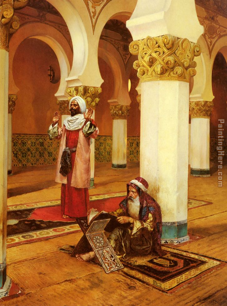 Rudolf Ernst Evening Prayer Art Painting