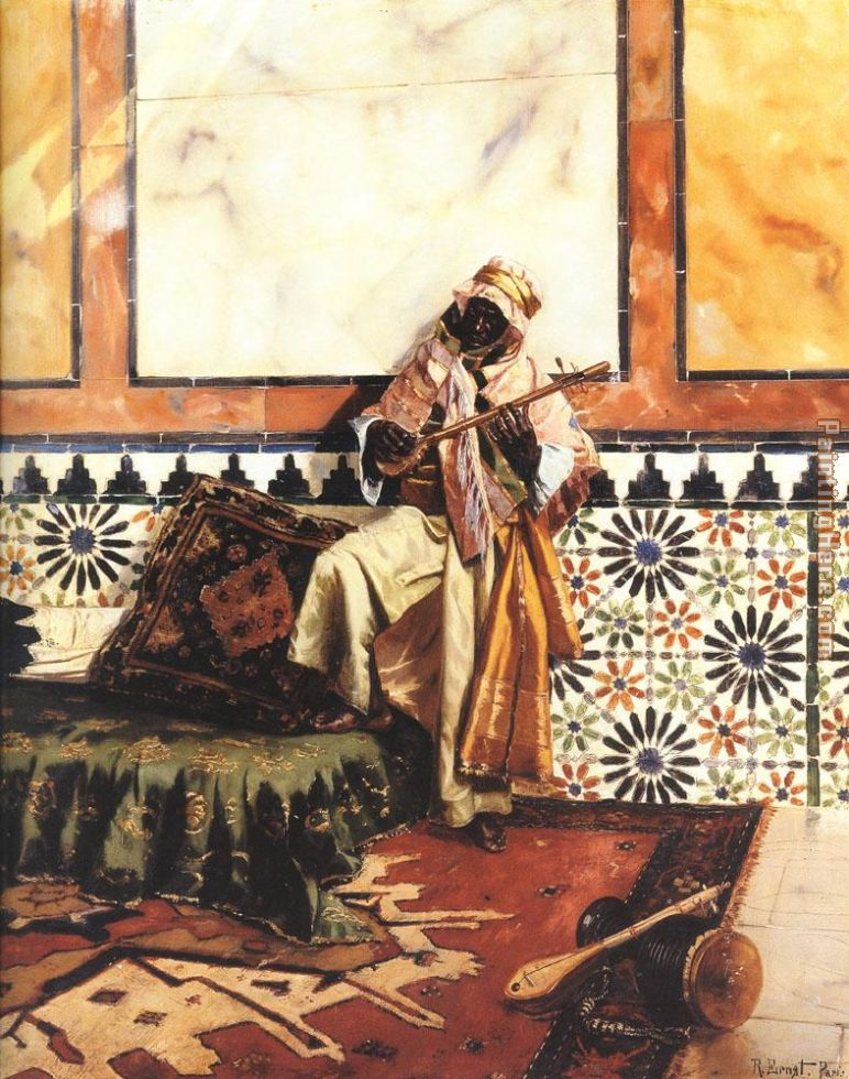 Rudolf Ernst Gnaoua in a North African Interior Art Painting