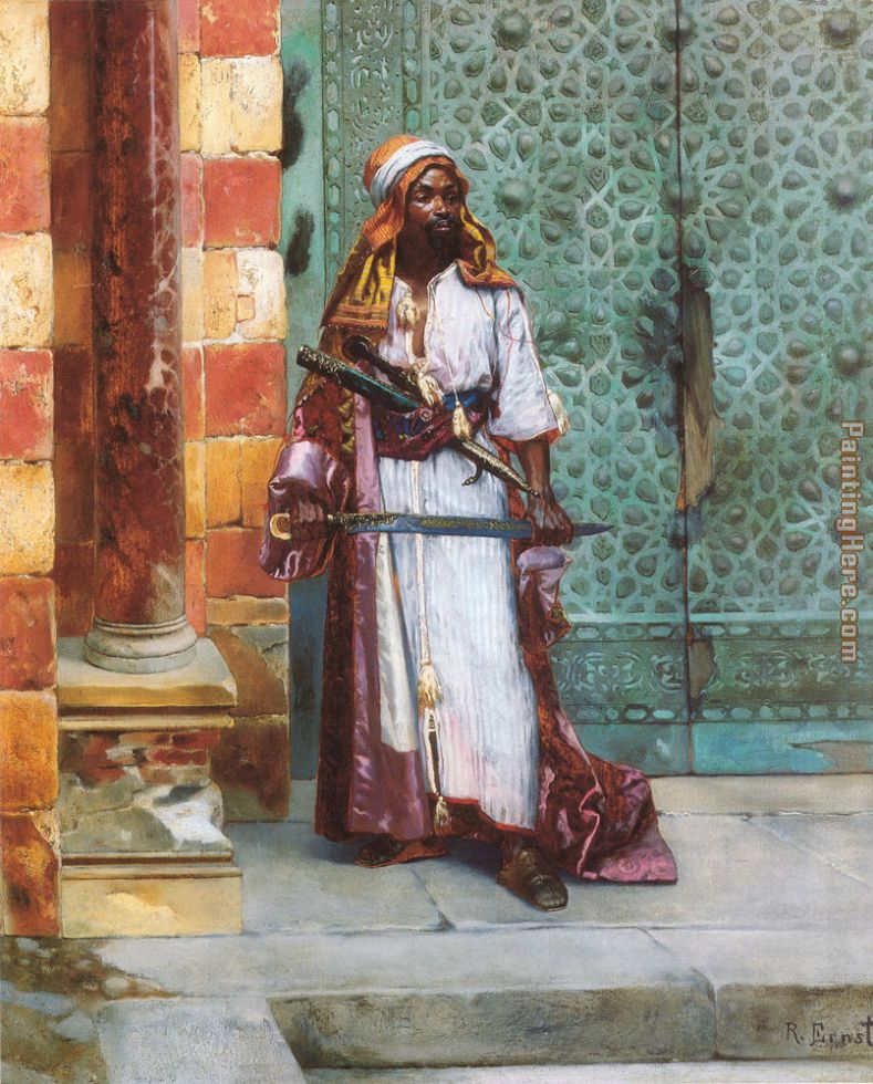 Standing Guard painting - Rudolf Ernst Standing Guard art painting