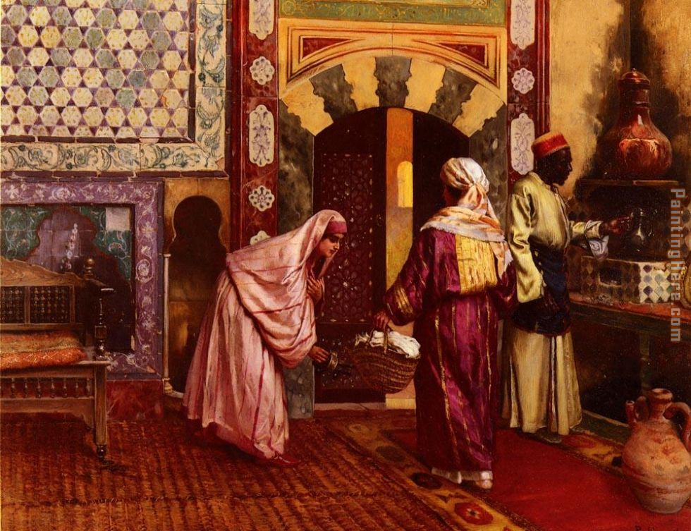 Rudolf Ernst The Hammam Art Painting