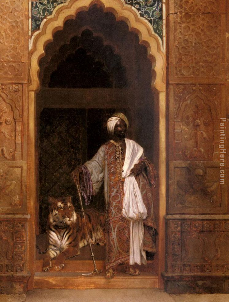 The Palace Guard painting - Rudolf Ernst The Palace Guard art painting