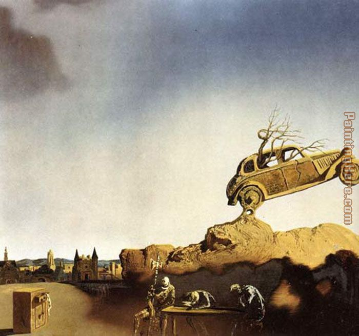 Apparition of the Town of Delft painting - Salvador Dali Apparition of the Town of Delft art painting