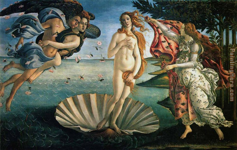 The Birth of Venus painting - Sandro Botticelli The Birth of Venus art painting