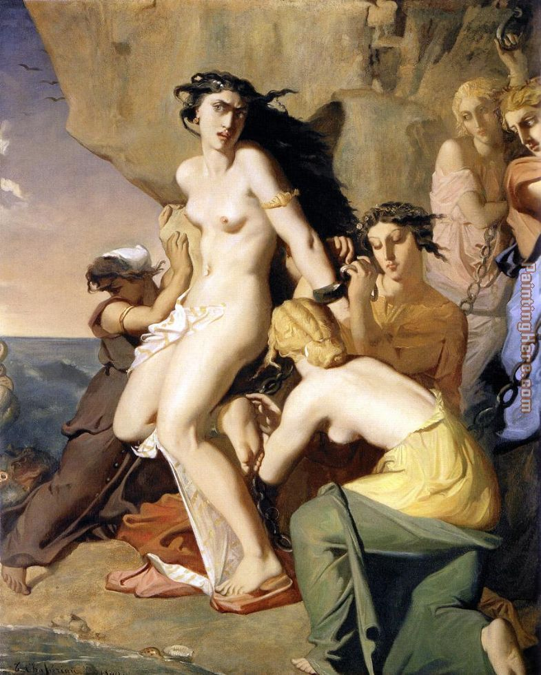 Theodore Chasseriau Andromeda Chained to the Rock by the Nereids ...