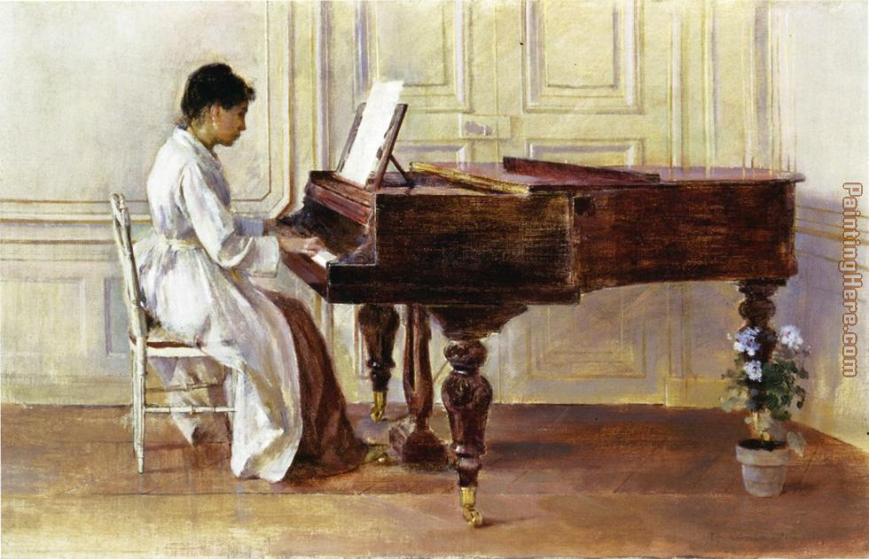 At the Piano painting - Theodore Robinson At the Piano art painting