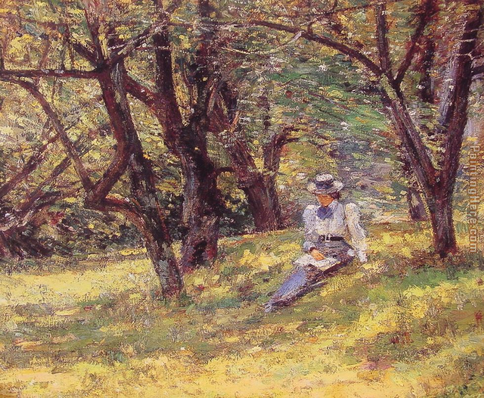 In the Orchard painting - Theodore Robinson In the Orchard art painting