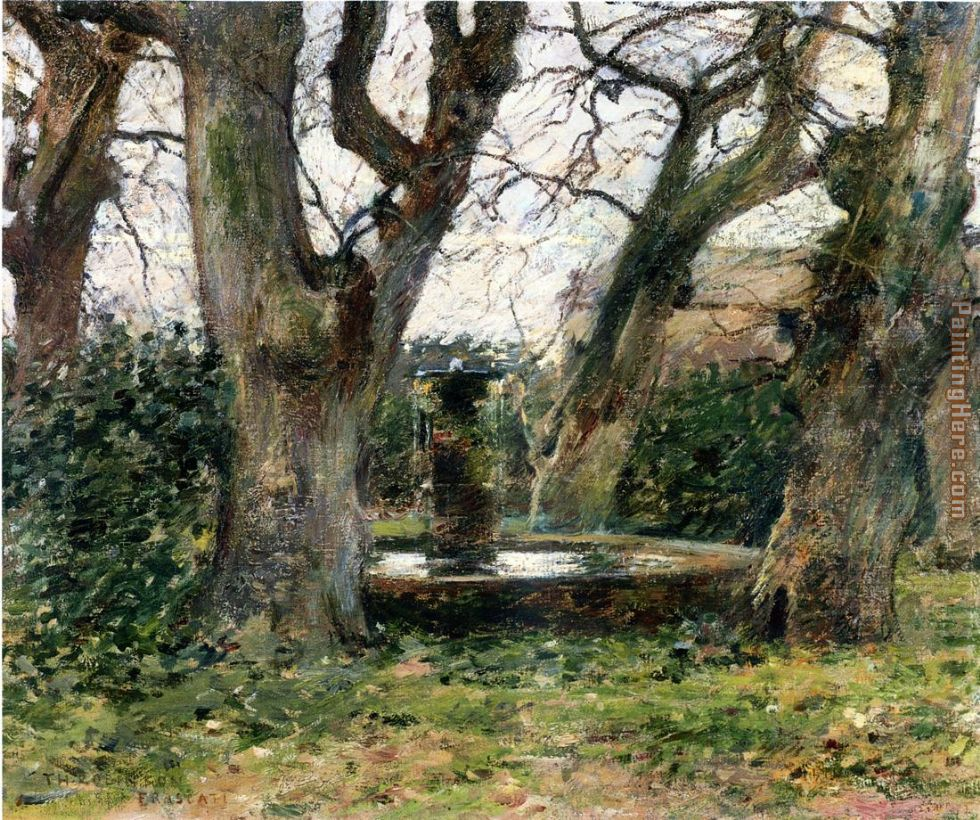 Theodore Robinson Italian Landscape With A Fountain Painting