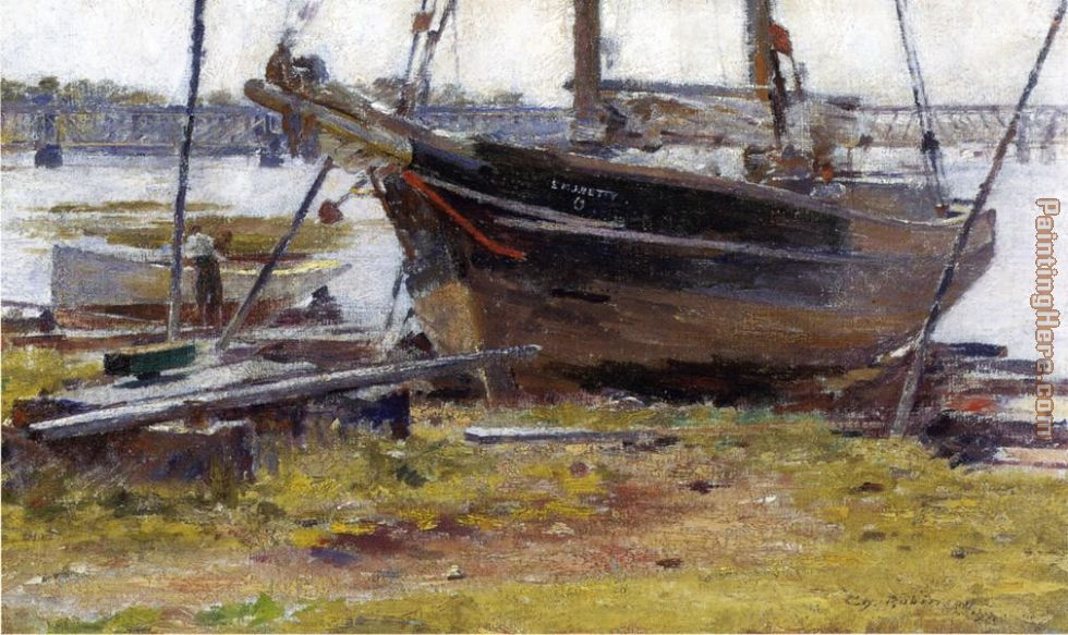 The E. M. J. Betty painting - Theodore Robinson The E. M. J. Betty art painting