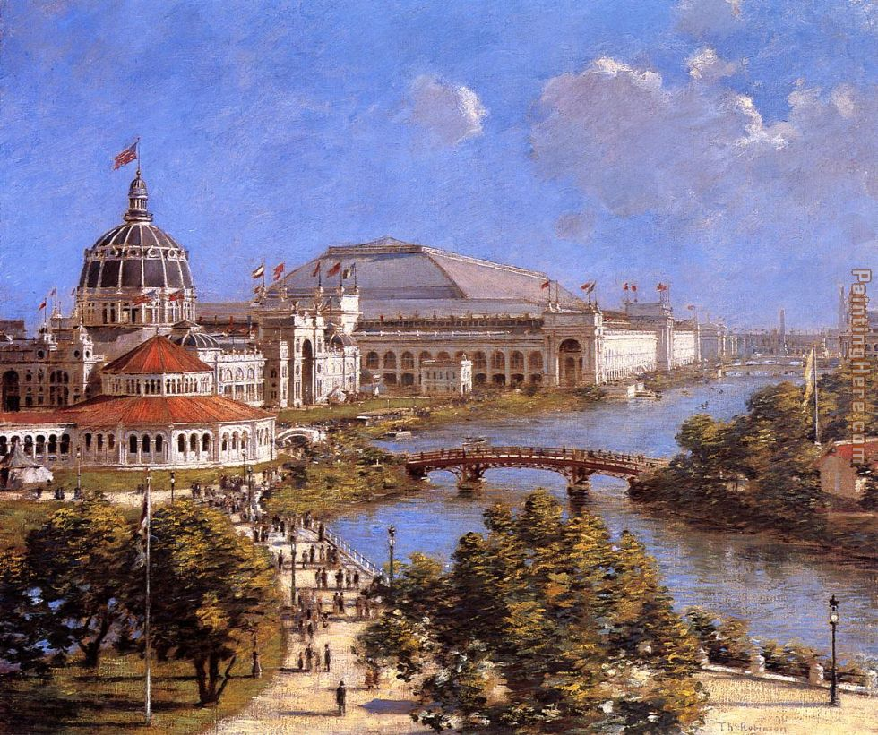 World's Columbian Exposition painting - Theodore Robinson World's Columbian Exposition art painting