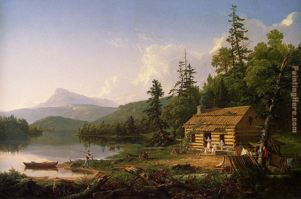 Home in the Woods painting - Thomas Cole Home in the Woods art painting