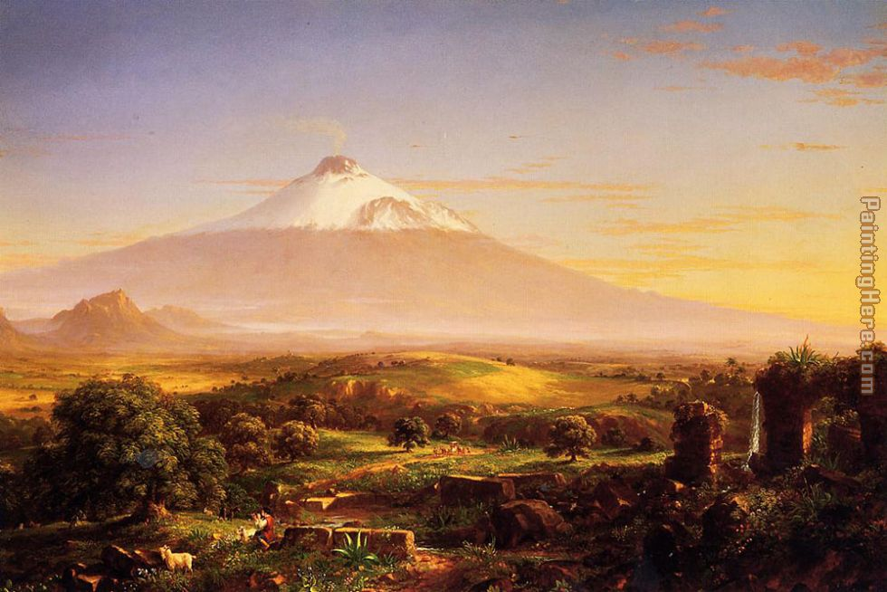 Mount Etna painting - Thomas Cole Mount Etna art painting
