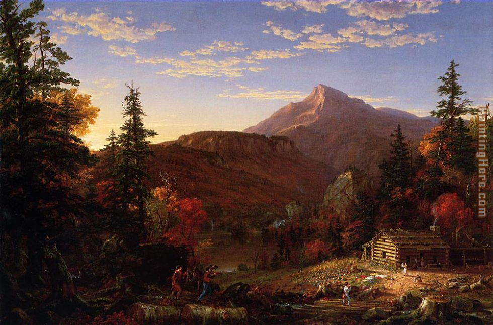 The Hunter's Return painting - Thomas Cole The Hunter's Return art painting
