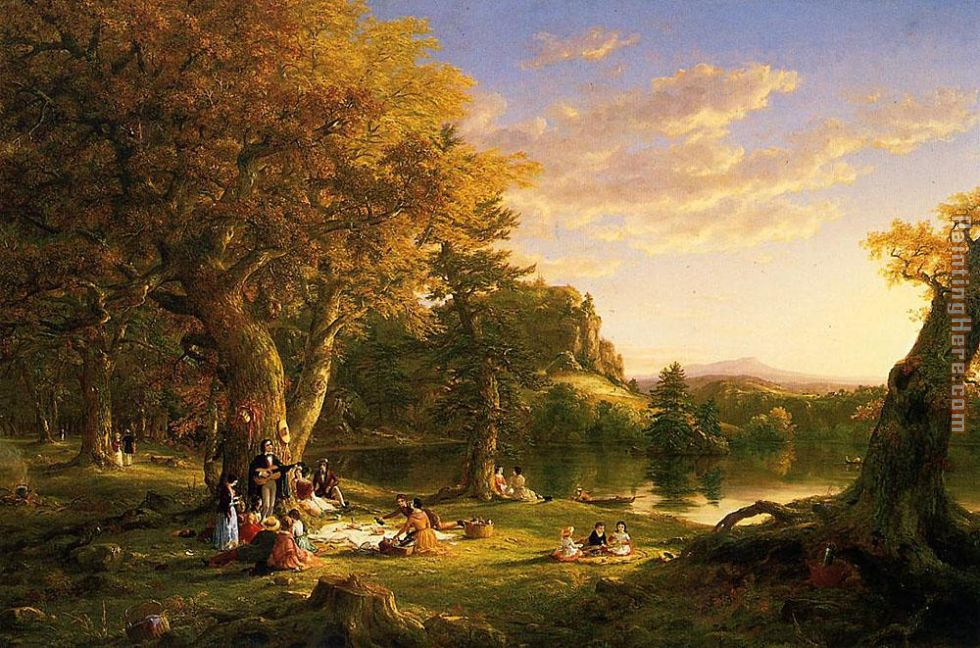 The Picnic painting - Thomas Cole The Picnic art painting