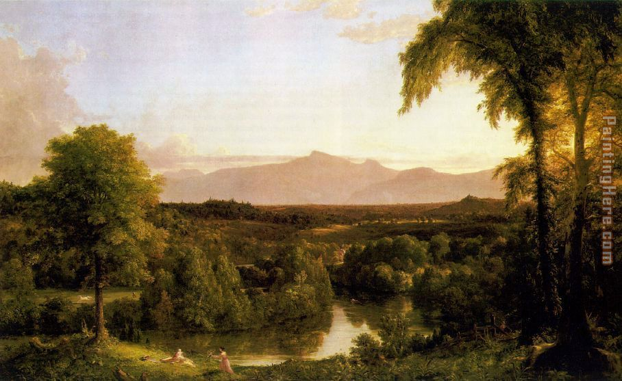View on the Catskill - Early Autumn painting - Thomas Cole View on the Catskill - Early Autumn art painting