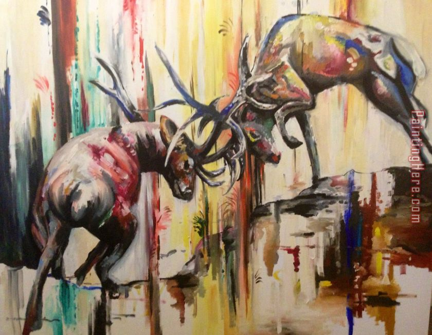 Unknown Artist Deers Art Painting