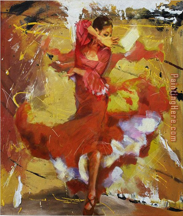 Flamenco 18 painting - Unknown Artist Flamenco 18 art painting