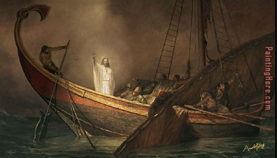 Jesus Calms The Storm painting - Unknown Artist Jesus Calms The Storm art painting