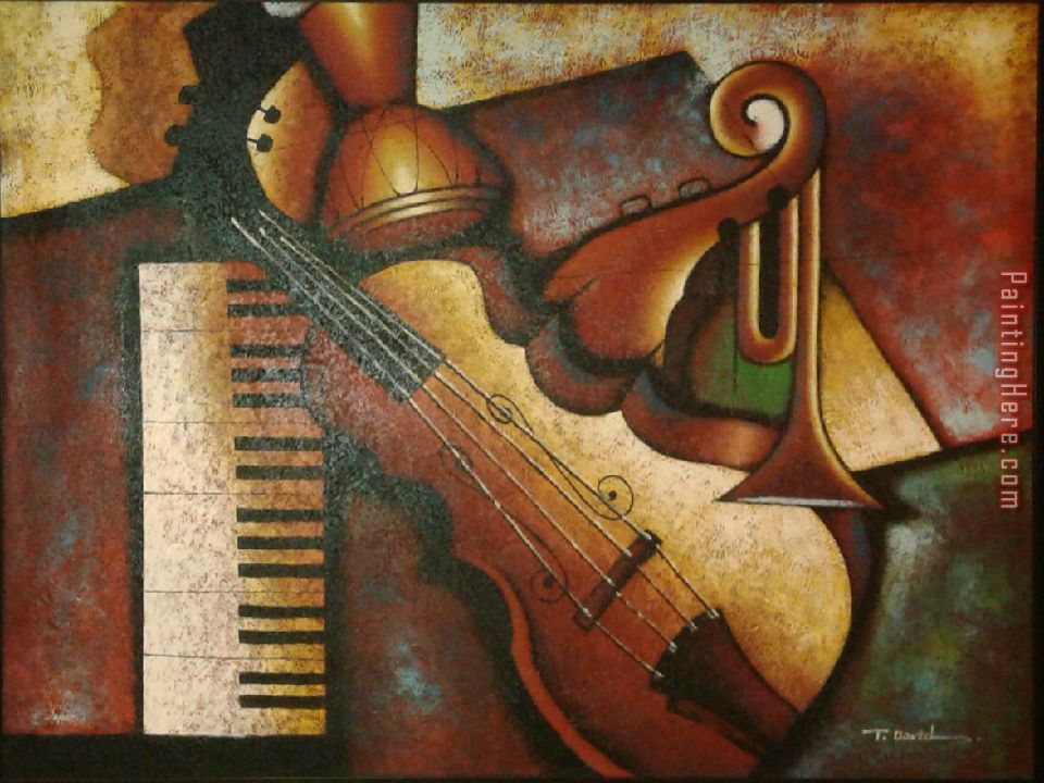 Unknown Artist Musical Instruments painting anysize 50% ...